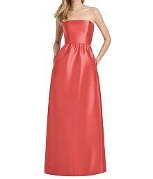 Strapless Full Length Petal Back Dress - Lela Rose LR248