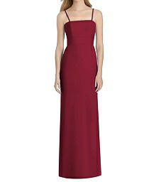 Full Length Crepe Dress With Back Bow - Lela Rose LR247