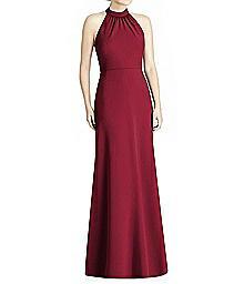 Full Length Crepe Halter Top Dress - Jenny Yoo JY538
