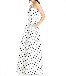 Full Length A-Line Dress with Pockets - Alfred Sung D748FP