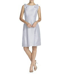 Sleeveless Dupioni Cocktail Length Dress - Alfred Sung D626