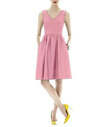 Sleeveless Cocktail Peau de Soie Dress - Alfred Sung D640