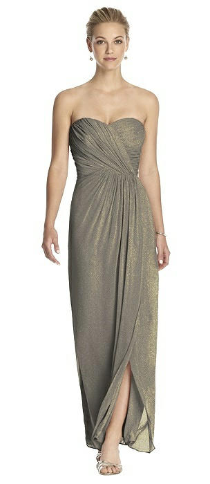Dessy Shimmer Bridesmaid Dress 2882LS
