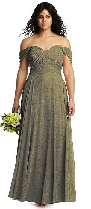 Dessy Shimmer Bridesmaid Dress 2970LS