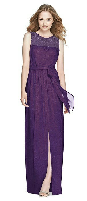 Dessy Shimmer Bridesmaid Dress 3025LS