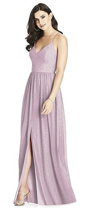 Dessy Shimmer Bridesmaid Dress 3019LS