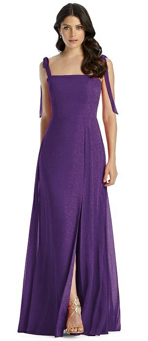 Dessy Shimmer Bridesmaid Dress 3042LS