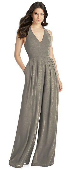 Dessy Shimmer Bridesmaid Jumpsuit Arielle LS