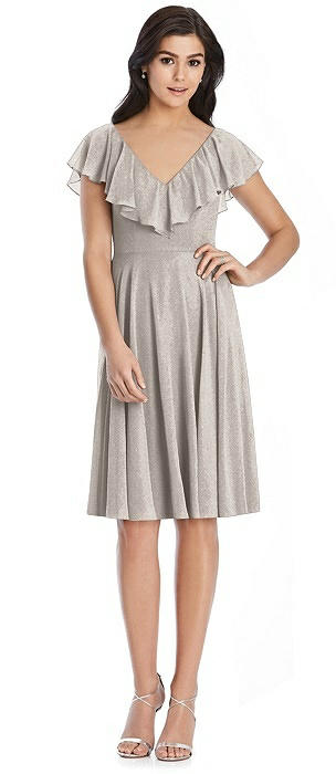 After Six Shimmer Bridesmaid Dress 6796LS