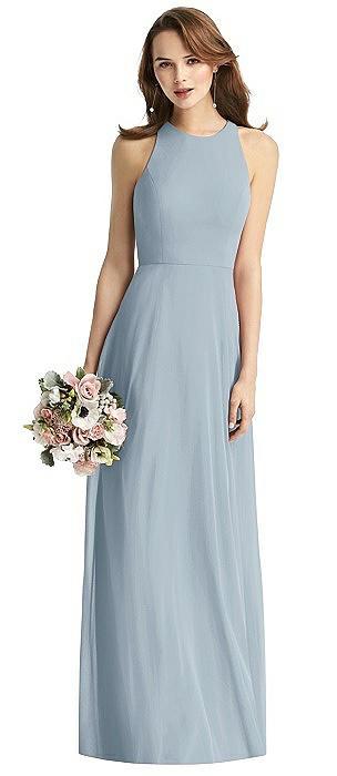 Emily Long Halter Chiffon Dress