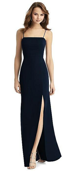 Stella Tie-Back Shimmer Trumpet Dress