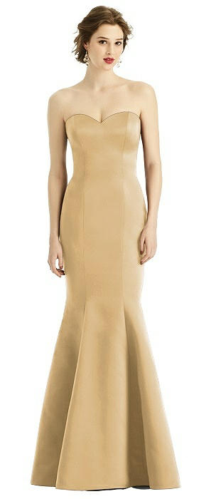 Matte Satin Full length Tumpet Gown