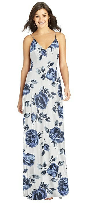 Criss Cross Back A-Line Maxi Dress
