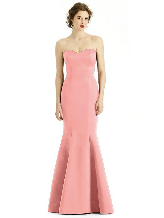 Sweetheart Strapless Satin Mermaid Dress