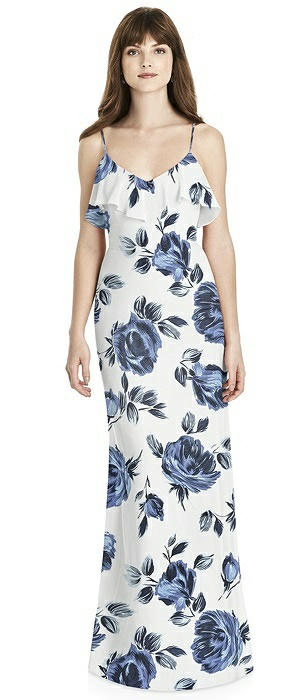 Ruffle-Trimmed Backless Maxi Dress - Britt