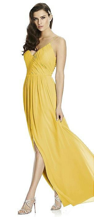 Deep V-Back Shirred Maxi Dress - Ensley