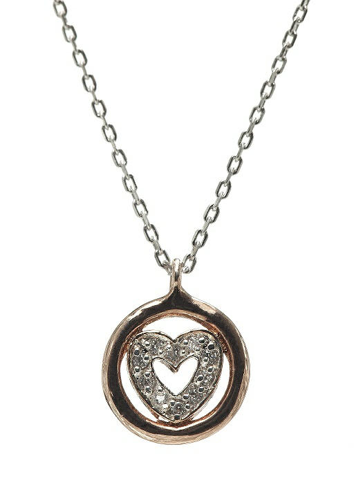 CZ Heart Charm Necklace