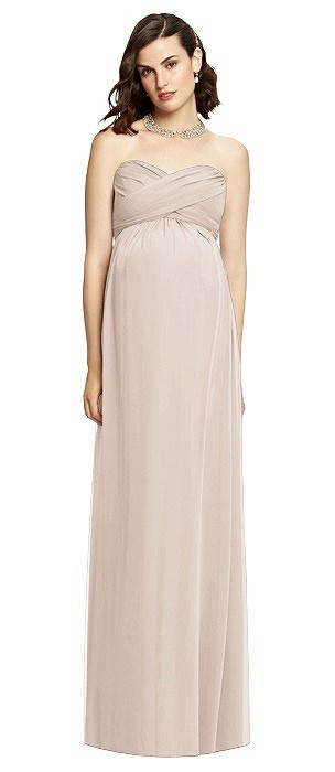 Draped Bodice Strapless Maternity Dress On Sale