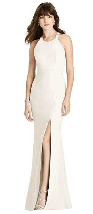 Criss Cross Open-Back Trumpet Gown