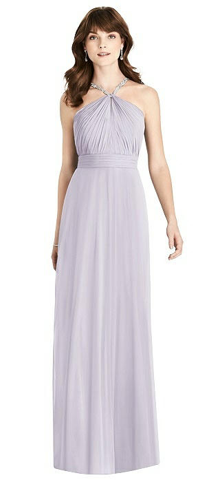 Jeweled Twist Halter Maxi Dress