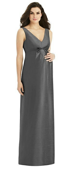 Sleeveless Satin Twill Maternity Dress