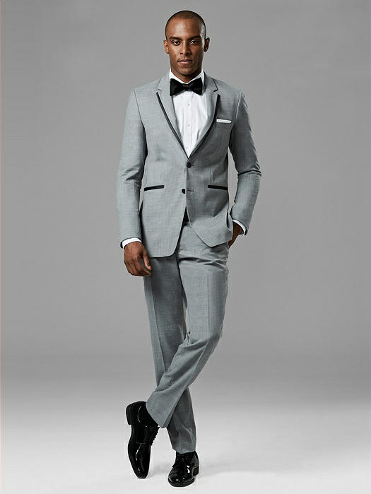 Light Gray Notch Lapel Tux
