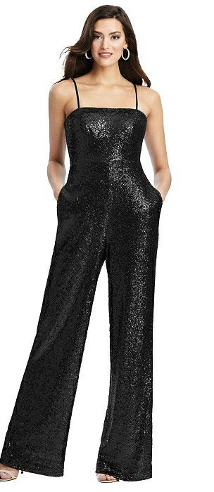 Sequin Jumpsuit with Pockets - Alexis