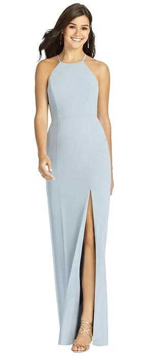 Sunburst Strap Back Mermaid Dress