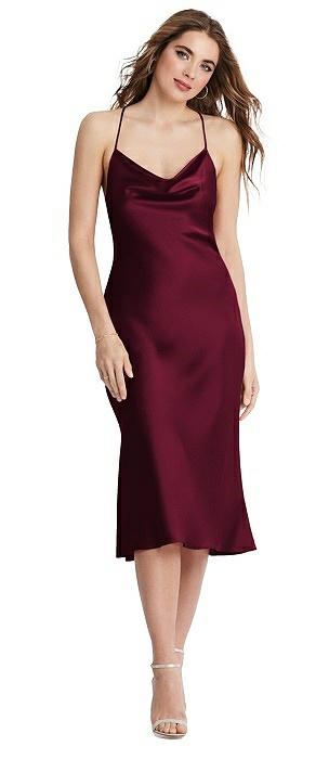 Cowl-Neck Convertible Midi Slip Dress - Piper