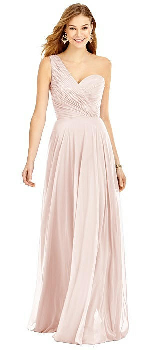 One Shoulder Lux Chiffon Maxi - Dani