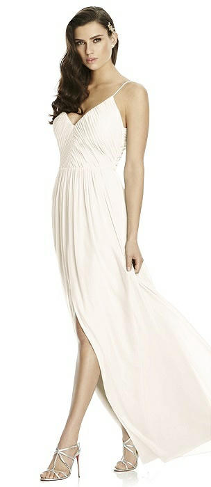 Deep V-Back Shirred Maxi Dress - Ensley