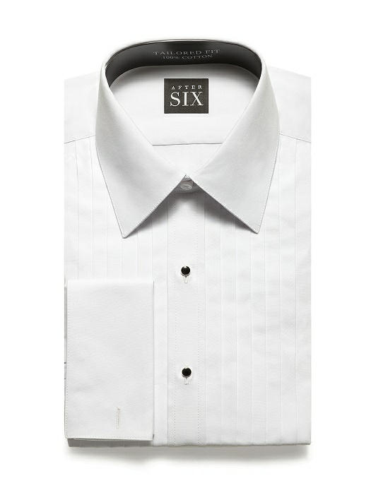 Pleated Front Tuxedo Shirt - The Oliver by After Six