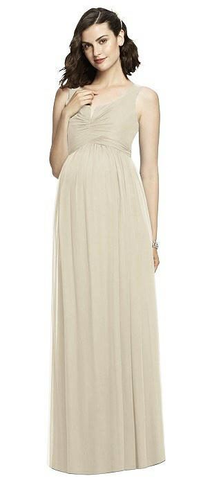 Sleeveless Notch Maternity Dress