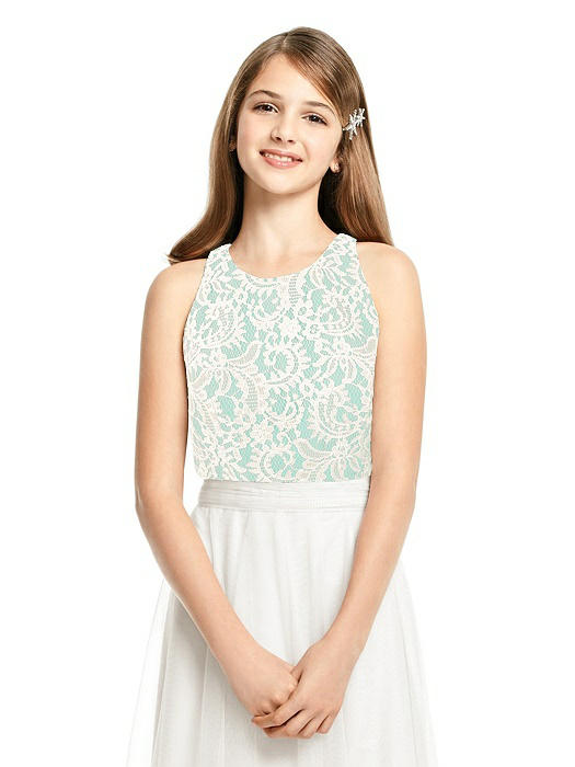 Junior Sleeveless Lace Top