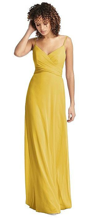 Spaghetti Strap Criss Cross Bodice Chiffon Dress