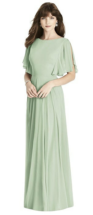 Split Sleeve Backless Maxi Dress - Lila