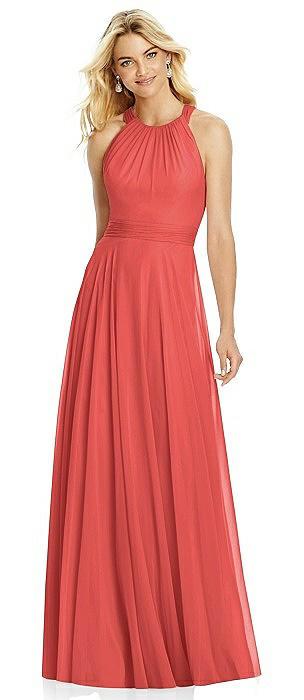Cross Strap Open-Back Halter Maxi Dress On Sale