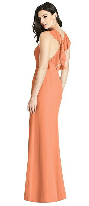 Criss Cross Ruffled Strap Halter Dress