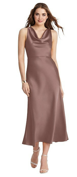 Cowl-Neck Midi Tank Dress - Esme