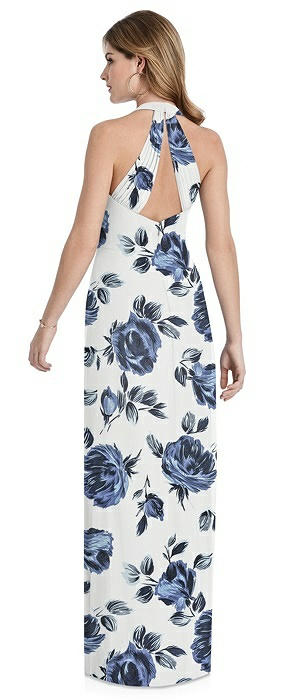 V-Neck Halter Chiffon Maxi Dress - Taryn