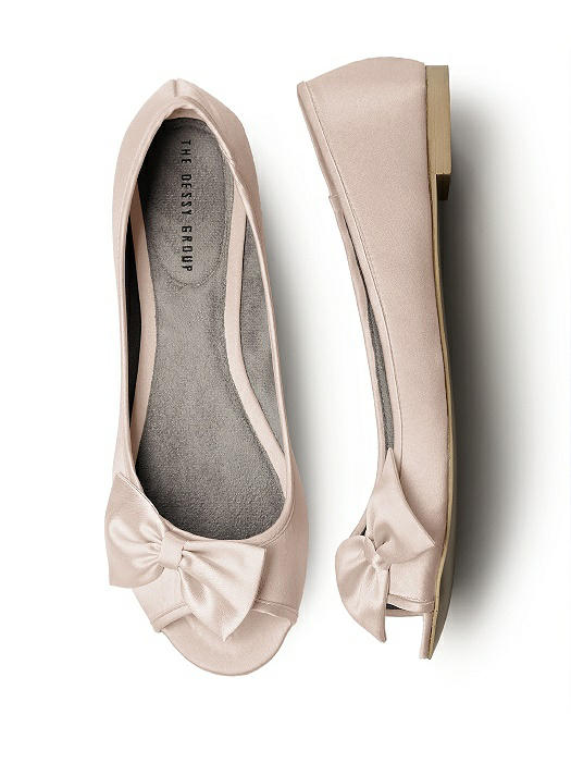 Satin Peep Toe Bridal Ballet Wedding Flats