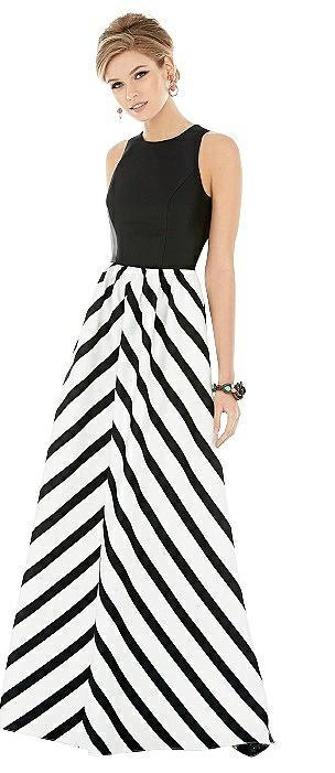 Sleeveless Striped Skirt Maxi Dress with Pockets