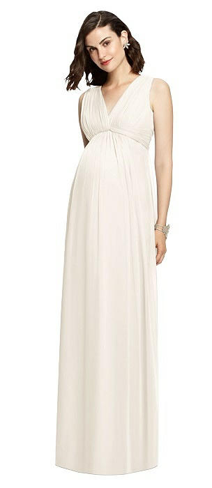 Sleeveless Shirred Skirt Maternity Dress