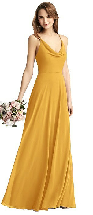 Cowl Neck Criss Cross Back Maxi Dress
