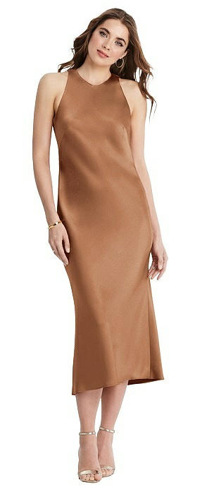 Tie Neck Cutout Midi Tank Dress - Lou