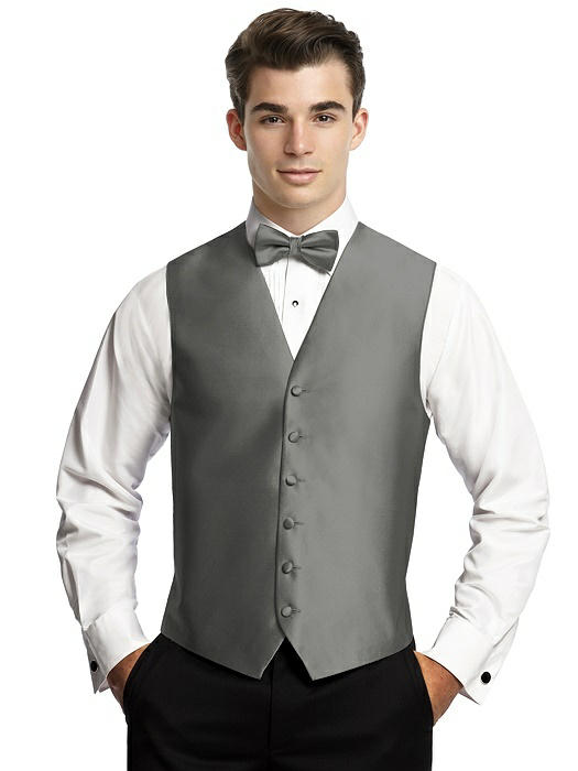 Yarn-Dyed 6 Button Tuxedo Vest by After Six