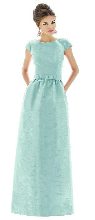 Cap Sleeve V-Back Maxi Dress with Pockets