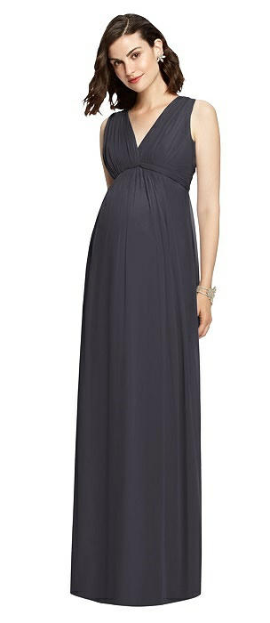 Sleeveless Shirred Skirt Maternity Dress