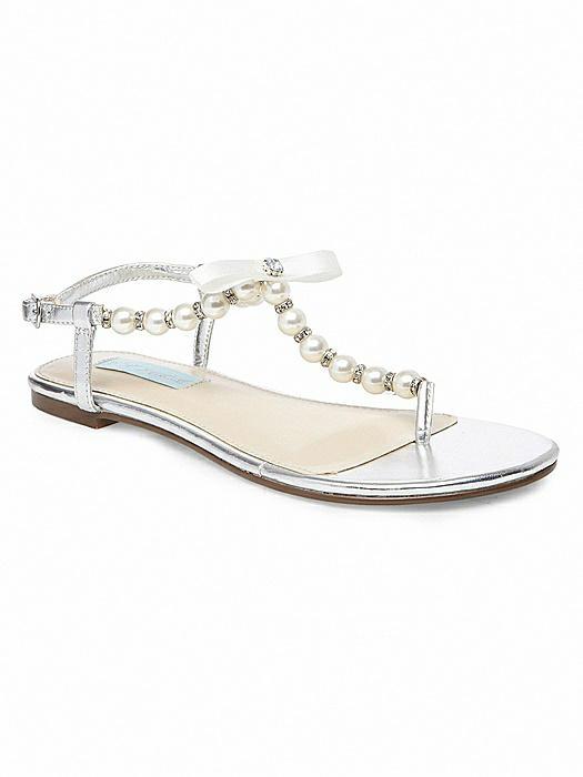 Betsey Blue Pearl Bridal Sandal