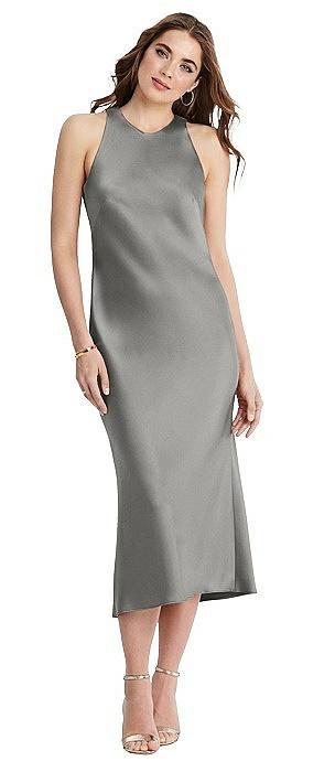 Tie Neck Cutout Midi Tank Dress - Lou